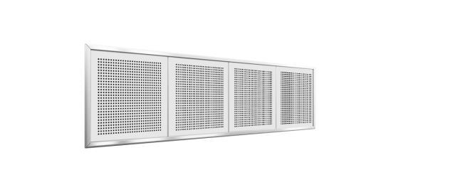 Akustikpanel med kvadratiska hål - Gyptone INSTANT Quattro 20