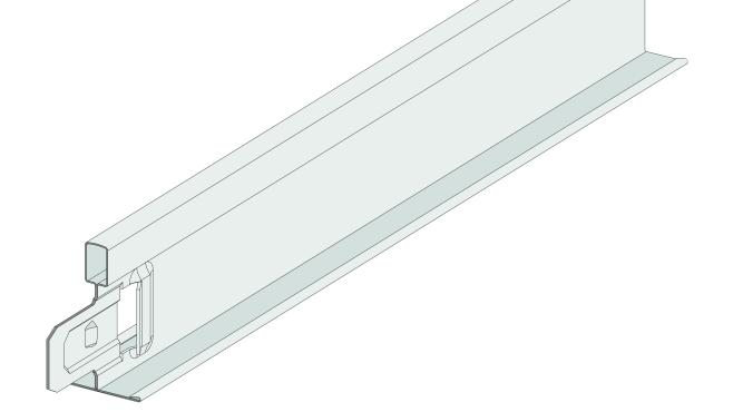 Gyptone Quick-Lock Bärprofil T 15, bredd 15 mm