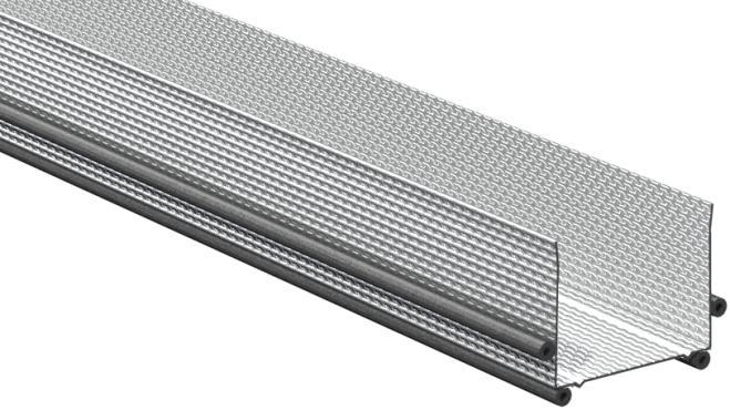 Gyproc AC 55 ACOUnomic Kantprofil med tätningslister, flänshöjd 55 mm