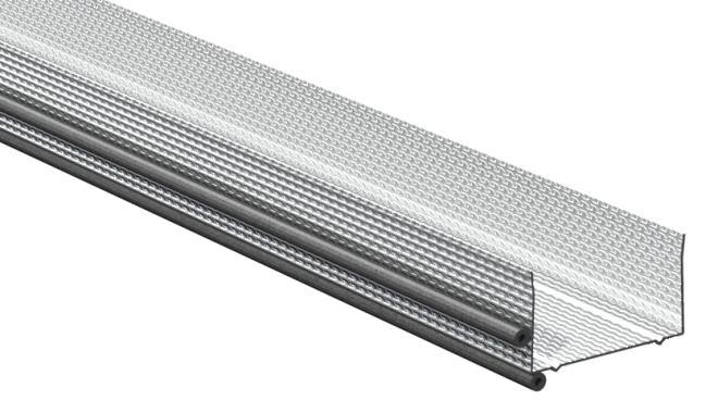 Gyproc AC-X2 ACOUnomic Kantprofil med tätningslister för saxade väggar