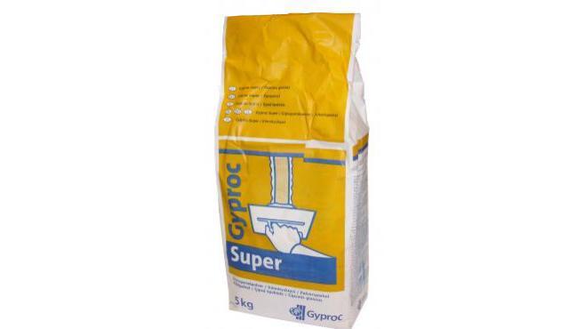 Gyproc Super 5 Pulverspackel för skarvspackling och utfyllnad av sprickor och hål.
