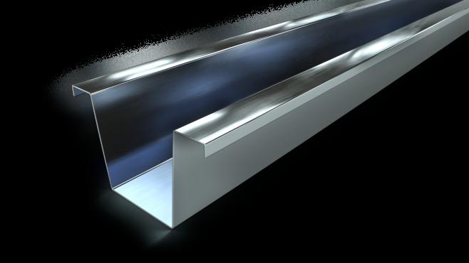 Gyproc S 45/80/0,7 Sekundär, höjd 45 mm - takprofil i 0,7 mm tjockt stål