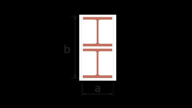 Dubbla fristående pelare inklädda med Glasroc F FireCase