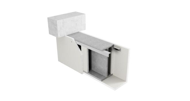 3-sidigt inklädd balk med Glasroc F FireCase och hörnprofil