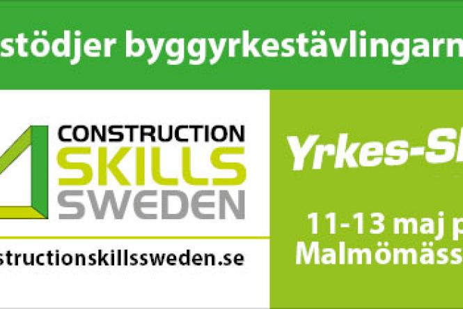 Gyprocstödjer Yrkes-SM i Malmö