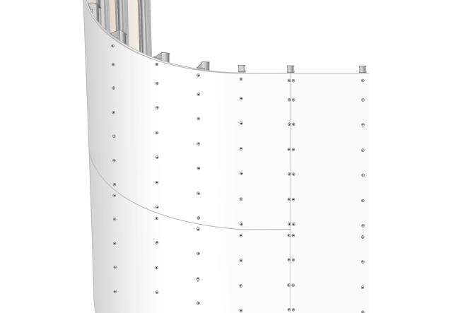 Böjda väggar med gipsskivor eller kompositskivor