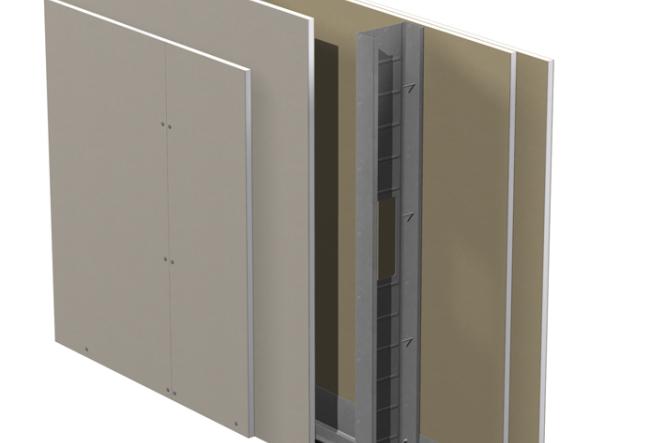 Gyproc GS standard innerväggar på stålstomme