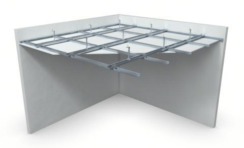 Nedpendlat undertak med Gyproc GK system i två nivåer