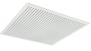 Snygga akustikundertak med små perforerade kvadratiska hål