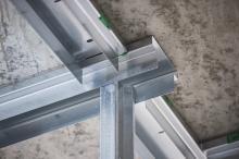 Gyproc innerväggar på stålstomme - Elmeskolan