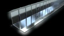 Stålprofiler för böjda väggar och välvda undertak