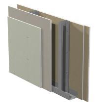 Gyproc GD innerväggar med förstärkningsreglar c 450 med Gyproc ErgoLite