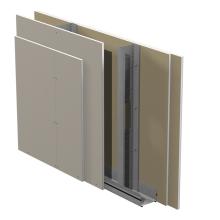 Standard innerväggar på stålstomme Gyproc GS c 450 med Gyproc Normal